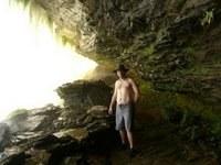 Steve in a Waterfall