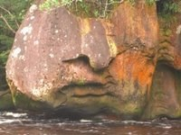 A Face in the Rocks