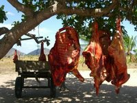 Hanging Slabs of Beef