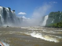 Iguazu Falls from Power Boat