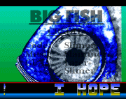 'A screenshot of 'A Bloody Big Fish!' intro