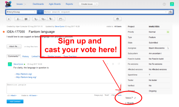 Screenshot of how to vote for Fantom