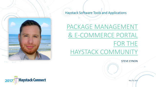 Package Management and E-Commerce Portal for the Haystack Community